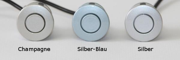 einparkhilfe parking welt 4x sensoren 21mm silber blau r ckfahrwarner pdc m5 ebay. Black Bedroom Furniture Sets. Home Design Ideas